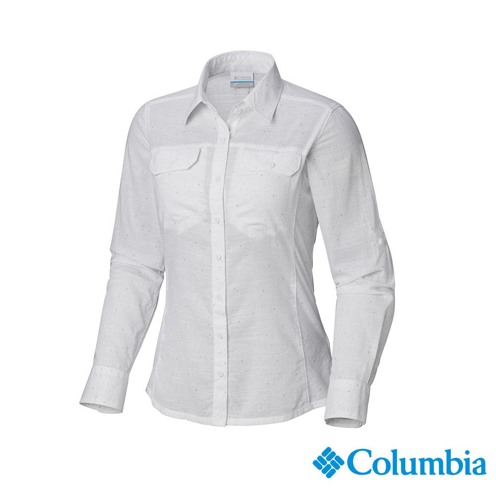 Columbia 哥倫比亞 女款-純棉長袖襯衫-白色 UAL79900WT