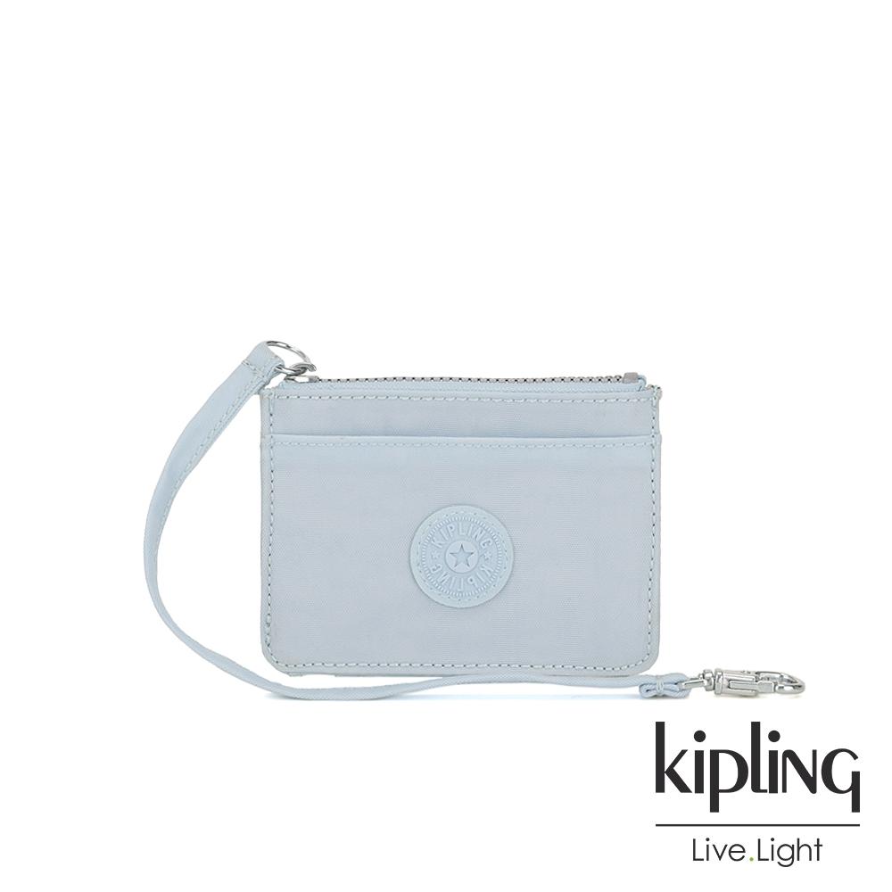 Kipling 棉花糖藍多夾層證件零錢包-CINDY