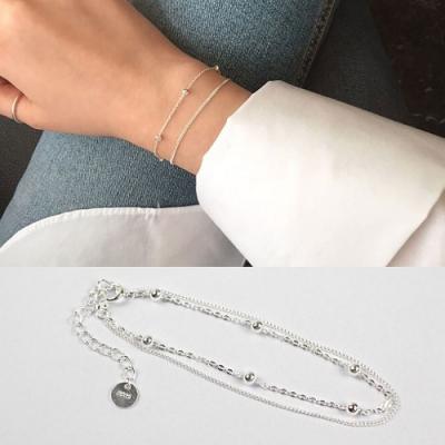 JINCHEN 純銀雙層珠珠手鍊
