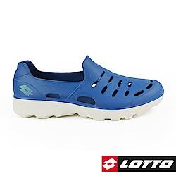 LOTTO 義大利 男 ROSSA 晴雨穿搭休閒鞋(灰藍)