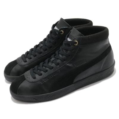 Puma 休閒鞋 Basket 68 Sonic 中筒 男鞋 音速小子 皮革鞋面 穿搭推薦 聯名 黑 金 37343001
