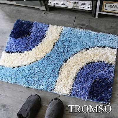 TROMSO 凱薩頂級厚絨毛吸水大地墊-M524圈圈亮絲藍