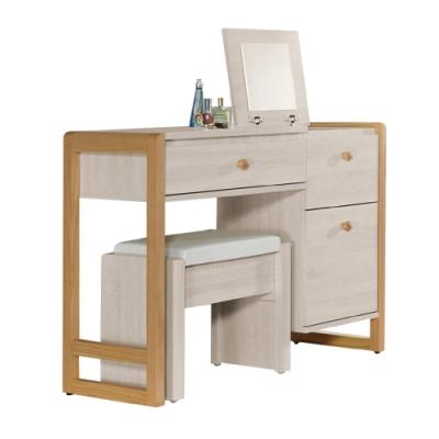 文創集 比特利 現代2.9尺上掀式鏡台/化妝台組合(含化妝椅)-85.5x40x75cm免組