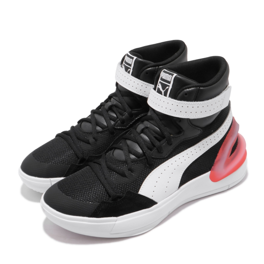 Puma 籃球鞋 Sky Modern 運動 男鞋 高筒 避震 包覆 支撐 魔鬼氈 球鞋 黑 白 19404204