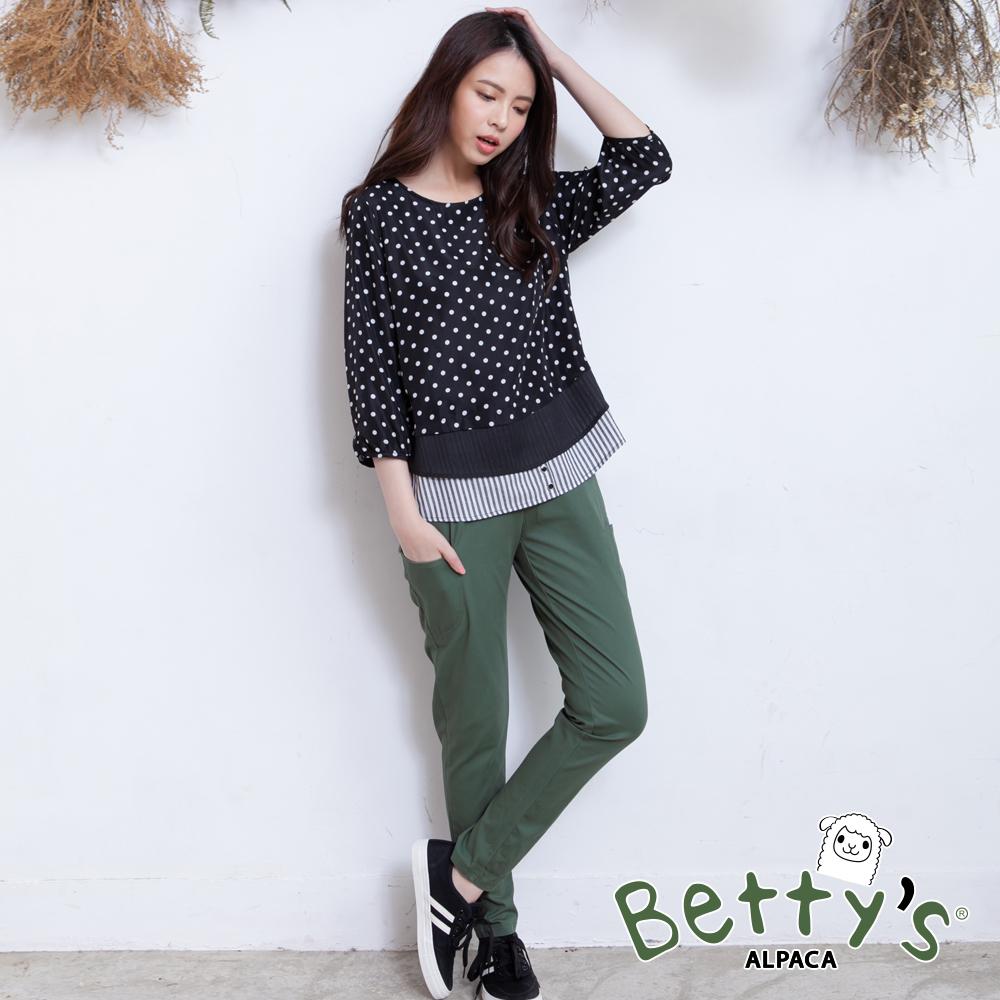 betty's貝蒂思 多口袋鬆緊窄管褲(綠色) @ Y!購物
