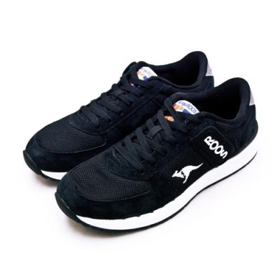 KangaROOS 經典復刻慢跑鞋 COMBAT紅標袋鼠鞋系列 黑白 91010