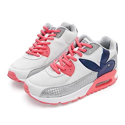 PLAYBOY 繽紛炫彩撞色氣墊運動鞋-白-Y522911