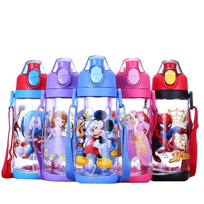 Disney 迪士尼 背帶兒童直飲水壺600ml不含雙酚A