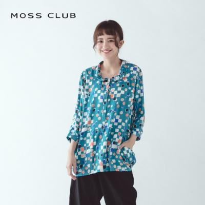 【MOSS CLUB】日系復古圖紋設計-襯衫(三色)