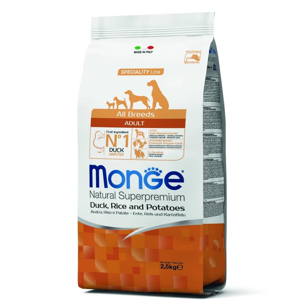 Monge Natural 天然特選 成犬 鴨肉配方 2.5KG