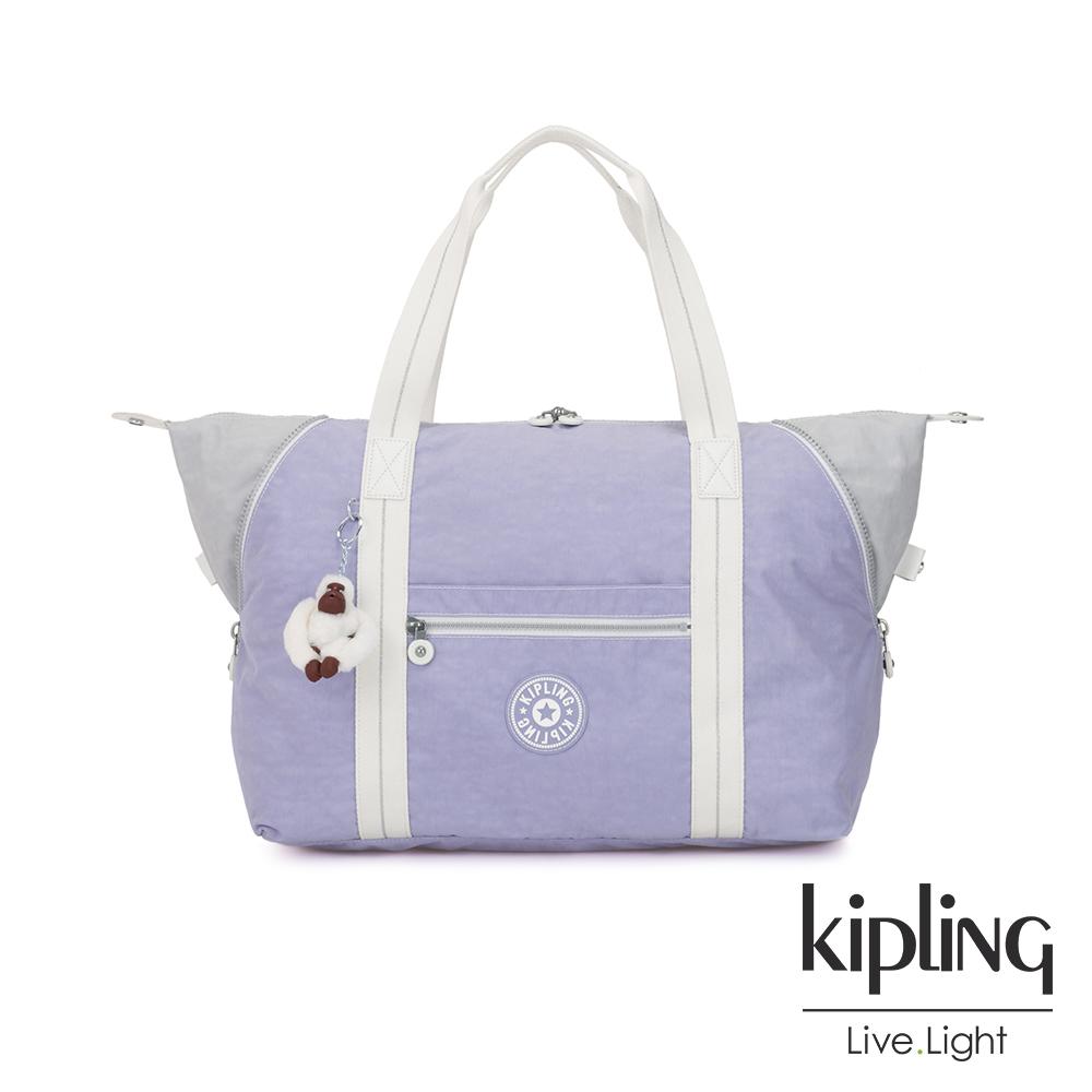 Kipling 法式丁香紫手提側背包-ART M