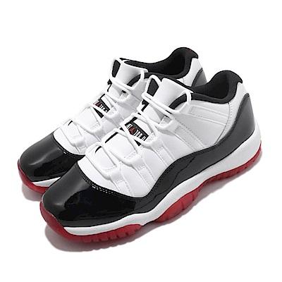 Nike 籃球鞋 Air Jordan 11代 Low 女鞋 大童 AJ11 Concord Bred 白黑紅 528896160