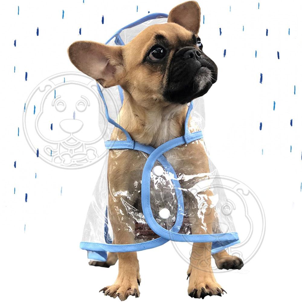 Ailuspet》透明寵物狗狗雨衣顏色隨機