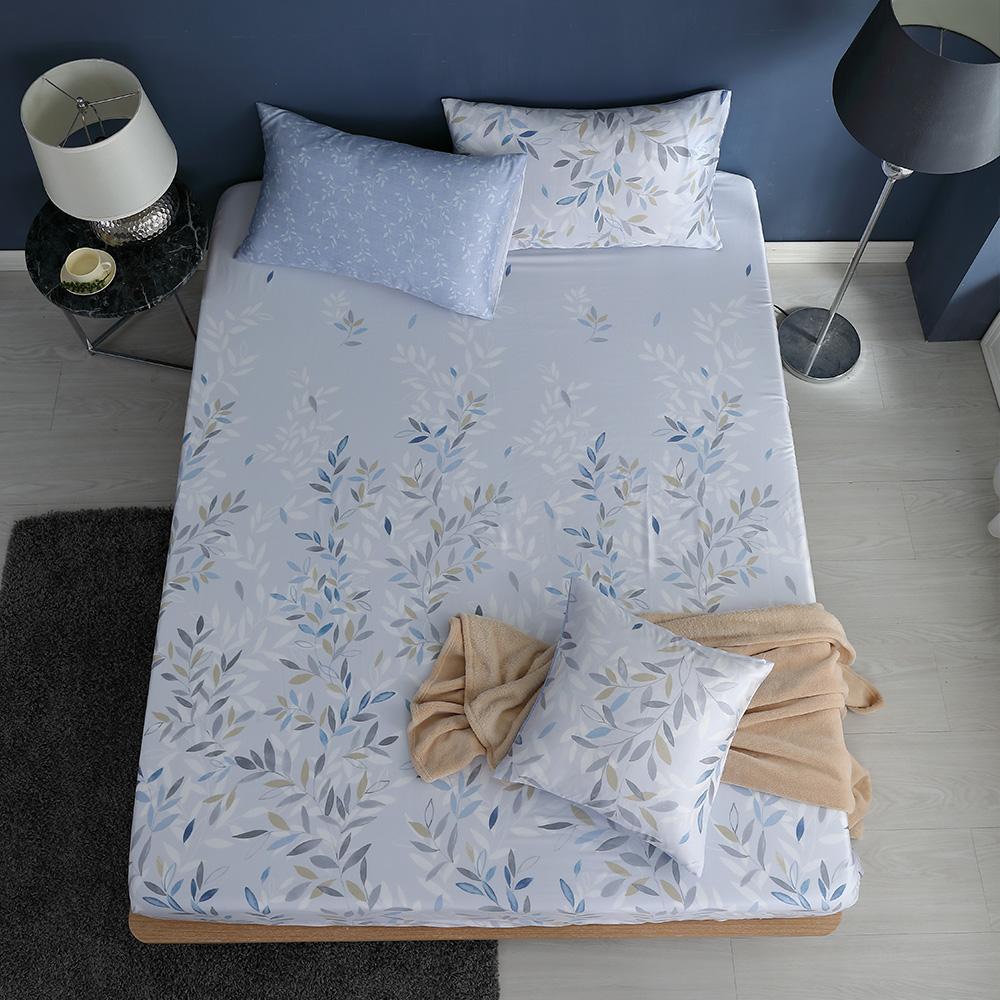 LASOL睡眠屋-100%奧地利天絲 雙人床包枕套三件組230織 時雨紛紛