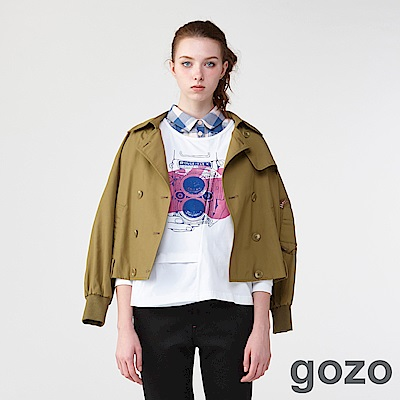 gozo迷幻渲染手繪塗鴉長袖T(二色)