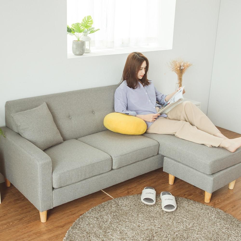 完美主義 日系簡約L型沙發/椅凳/三人座(4色)