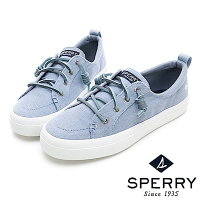 SPERRY 經典復古甜心粉嫩帆布鞋(女)-亮藍