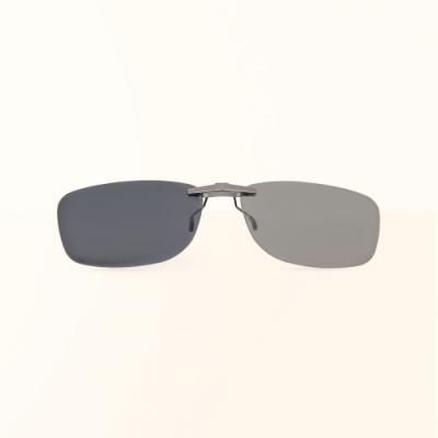 ALEGANT冰島灰鋁鎂合金夾式結構寶麗來偏光太陽眼鏡/UV400墨鏡/車用夾片/外掛夾式鏡片
