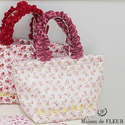 Maison de FLEUR  甜美碎花柄荷葉手提包
