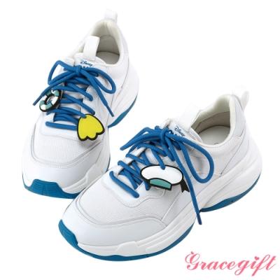 Disney collection by gracegift唐老鴨經典吊飾老爹鞋 白
