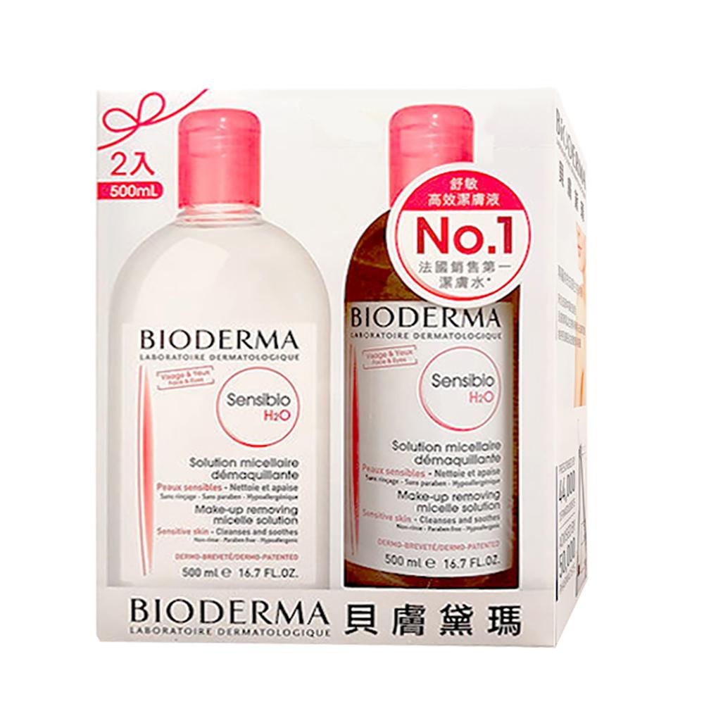 BIODERMA貝膚黛瑪 舒敏高效潔膚液500ml(2入組)