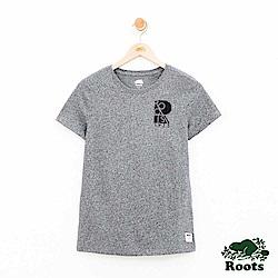女裝-Roots大R短袖T恤-灰