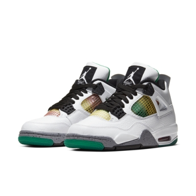 NIKE AJ4 籃球鞋 喬丹 緩震 包覆 運動鞋 女鞋 白綠 AQ9129100 AIR JORDAN 4 RETRO