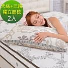 LooCa 名媛天絲三段式獨立筒枕-2入