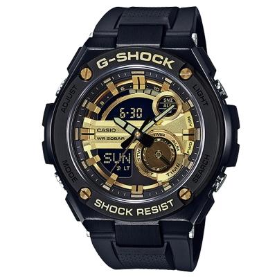 G-SHOCK精密防震分層防護構造概念休閒錶(GST-210B-1A9)金X黑52.4mm