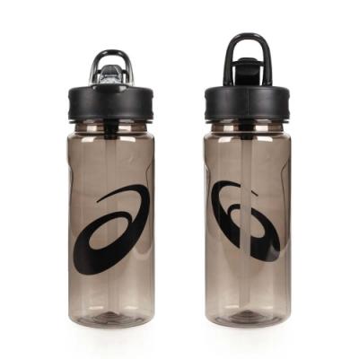 ASICS 運動水壺-600ML-附吸管 水瓶 慢跑 單車 自行車 亞瑟士 黑透明