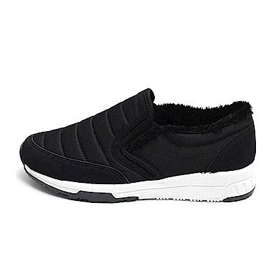 【AIRKOREA韓國空運】鋪棉拼接內刷毛休閒增高鞋-黑