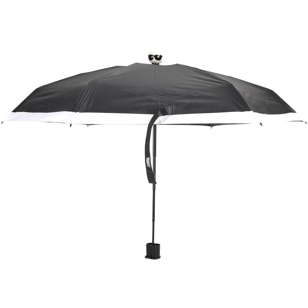 KARL LAGERFELD K/IKONIK 卡爾 老佛爺頭像折疊傘(黑色)