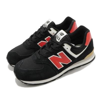 New Balance 休閒鞋 574 Wide 寬楦 運動 女鞋 紐巴倫 基本款 簡約 舒適 大童 穿搭 黑 紅 GC574ML2W