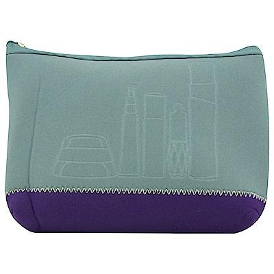 SHISEIDO資生堂  資生堂品牌化妝包(灰紫)