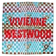 Vivienne Westwood   刺繡行星LOGO 馬賽克塗鴉底 純棉帕領巾(藍+咖) product thumbnail 1