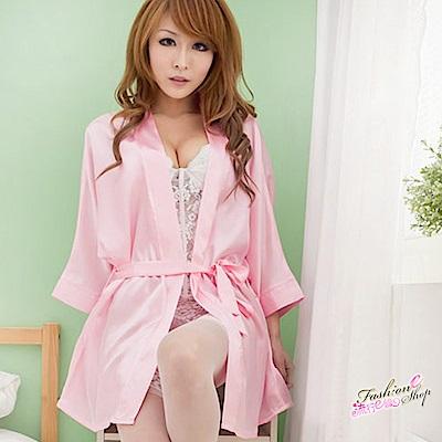 大尺碼居家睡衣 百搭舒柔緞面睡袍甜美性感睡衣 流行E線