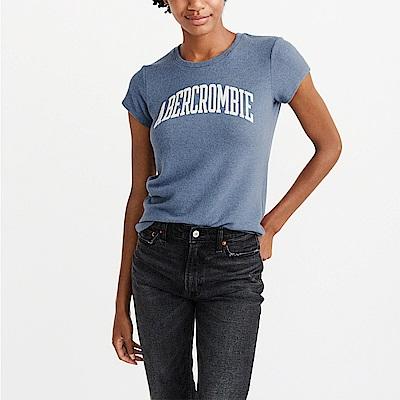 麋鹿 AF A&F 經典文字設計短袖T恤(女)-藍色