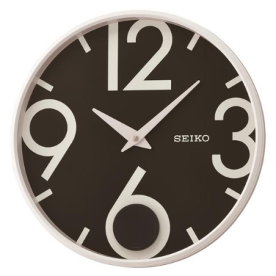 SEIKO 精工 時尚空間搖動擺錘掛鐘(QXC239W)-黑/33cm