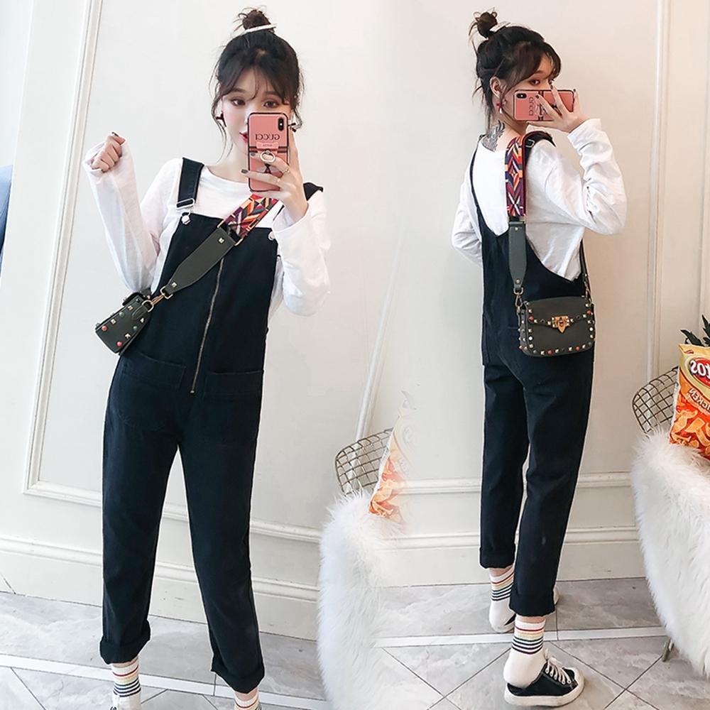 俏麗可愛金屬掛釦寬背帶吊帶褲XL-5XL(共二色)KVOLL