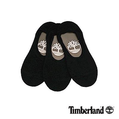 Timberland 情侶款黑色船形襪(3入)|A1EB1