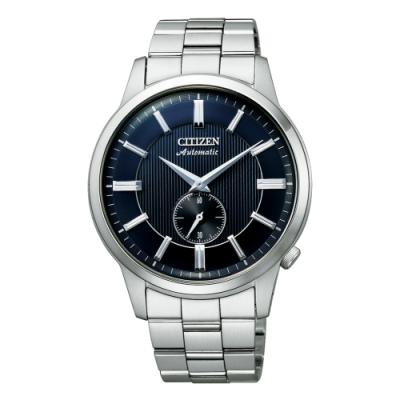 CITIZEN Mechanical 都會簡約機械腕錶-銀X藍(NK5000-98L)-41mm