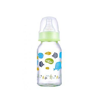 nac nac 好朋友系列(海洋)-吸吮力學標準耐熱玻璃奶瓶 120ml
