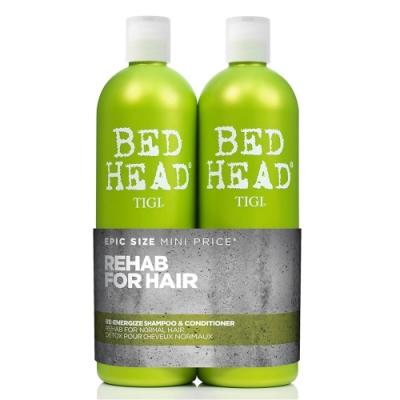 TIGI 摩登活力專業洗髮+護髮組750ml限量版大容量-快