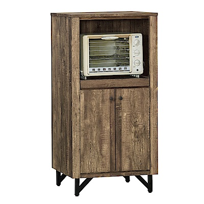 品家居 柏尼2尺工業風二門餐櫃-60x46x120cm免組