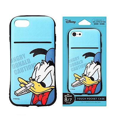 iPhone 8/7 手機殼 迪士尼 軍規防撞/防摔 插卡 軟殼 4.7吋-唐老...