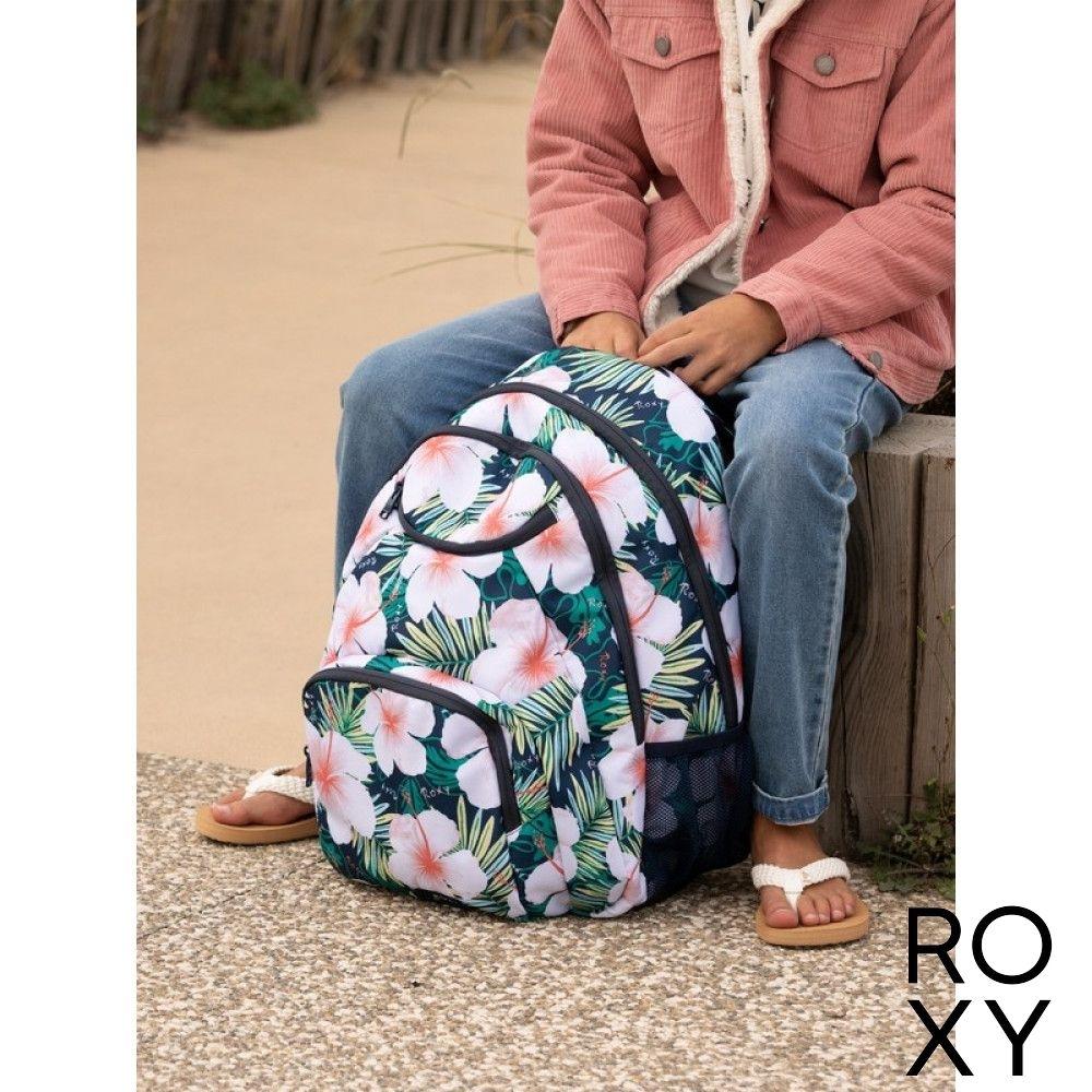 【ROXY】SHADOW SWELL PRINTED 後背包 藍綠色