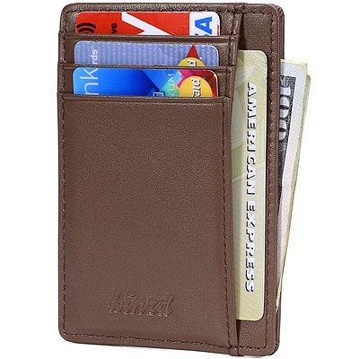 《Kinzd》防盜證件卡夾(棕色)