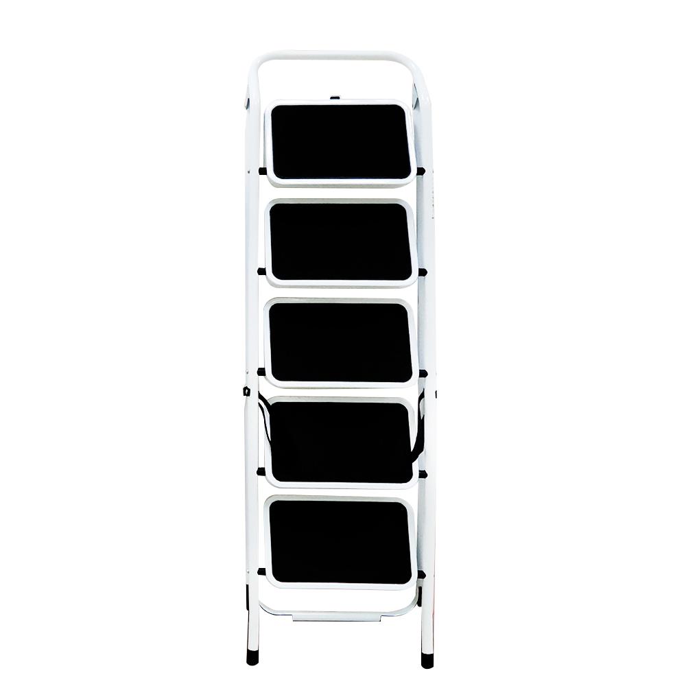 金德恩 台灣製造 全鋼鐵製加大止滑腳踏板 五階扶手平台折疊梯/關節梯/馬椅梯