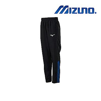 MIZUNO 美津濃 男平織運動長褲 黑x藏藍 32TD908691