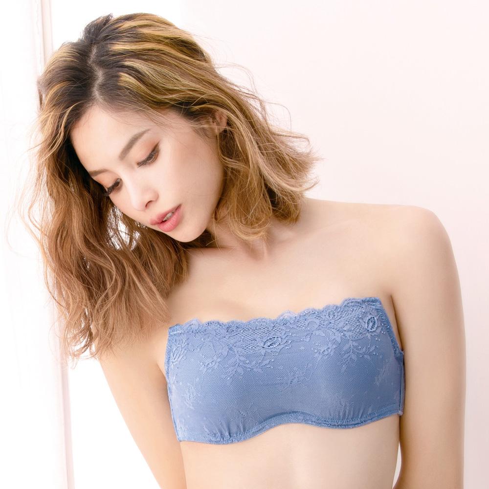莎薇-Air Cool 平口D-E 罩杯蕾絲內衣(藍)Win Cool冰涼紗